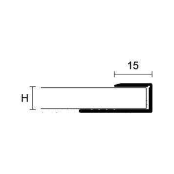 Profilo bordo in alluminio