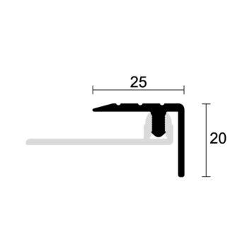 Profilo gradino in alluminio