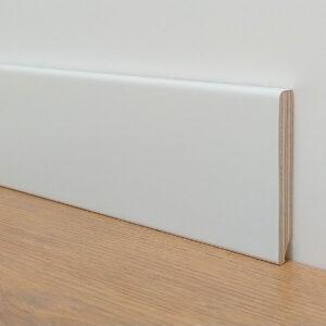 Battiscopa in legno multistrato dritto laccato bianco Puntofloor