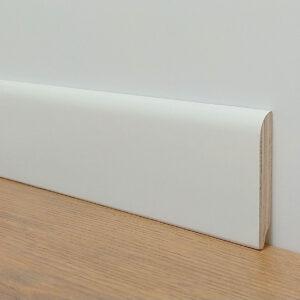 Battiscopa in legno multistrato stondato laccato bianco Puntofloor